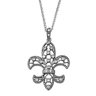 Sterling Silver Necklace - Fleur De Lis