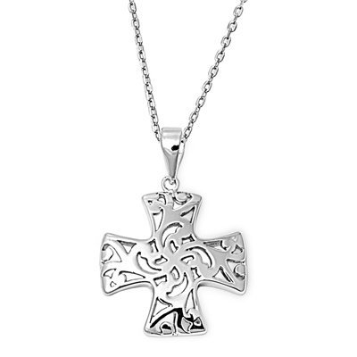 Sterling Silver Necklace - Cross