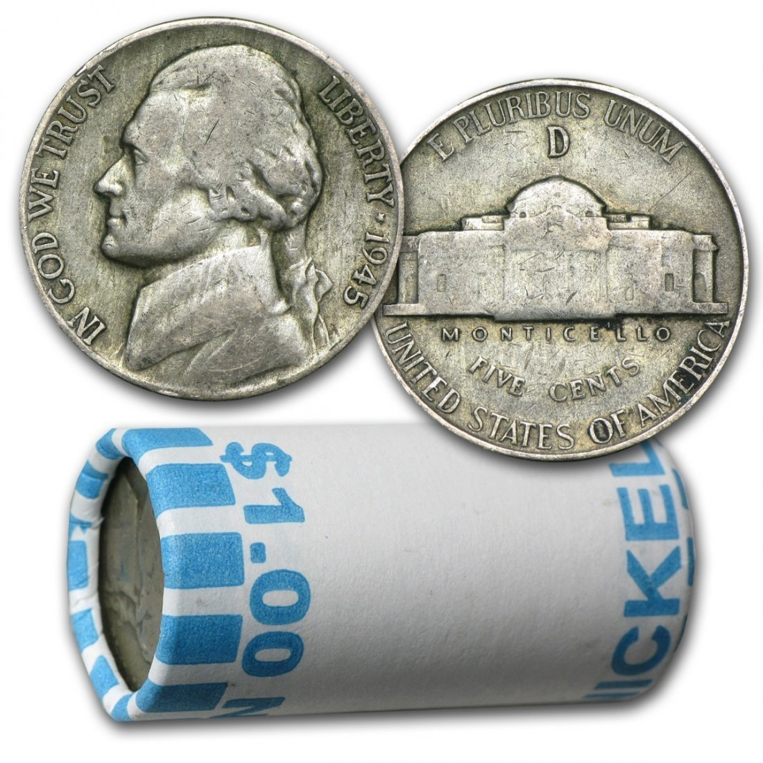 35% Silver War Nickels - $1 Face Value - 35 Percent