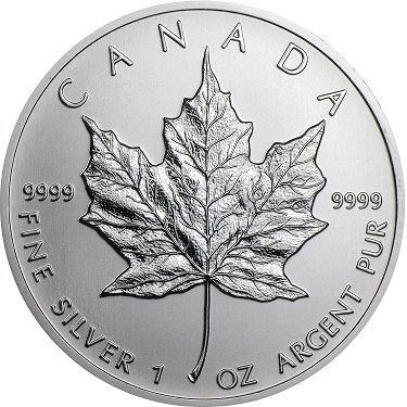 2013 1 oz Silver Canadian Maple Leaf Coin
