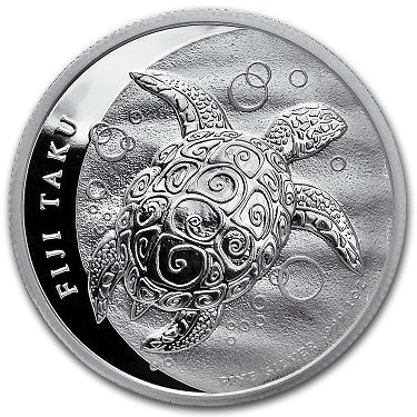 2013 1 oz Silver New Zealand Mint $2 Fiji Taku Coin
