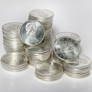 1958-1967 Canadian Silver Dollar Coin - AU/BU