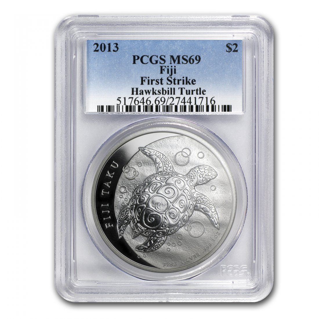 2013 1 oz Silver $2 Fiji Taku Coin - MS-69 First Strike