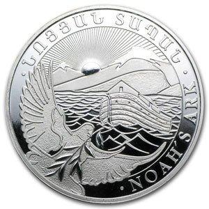 2013 1 oz Silver Armenia 500 Drams Noah's Ark Coin