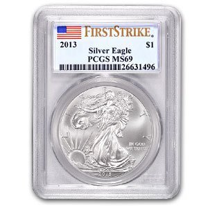 2013 1 oz Silver American Eagle Coin - MS-69 First