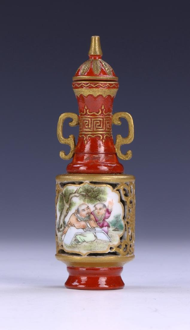 A FINE CHINESE ANTIQUE FALANGCAI REVOLVING AND