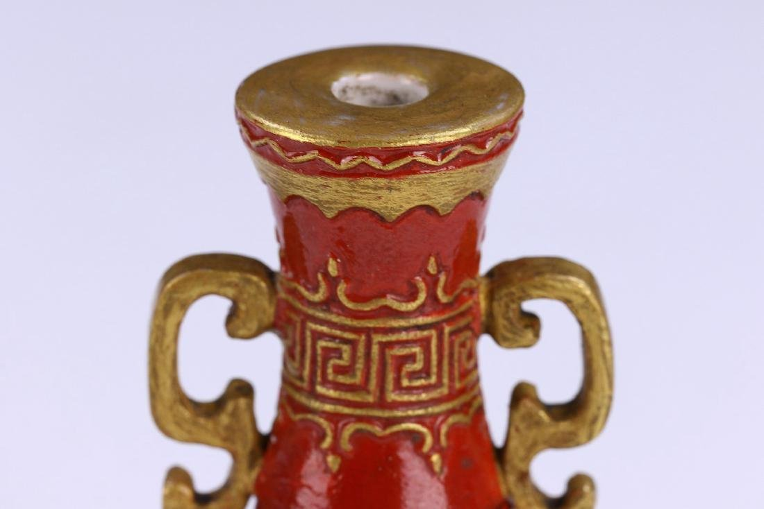 A FINE CHINESE ANTIQUE FALANGCAI REVOLVING AND - 6
