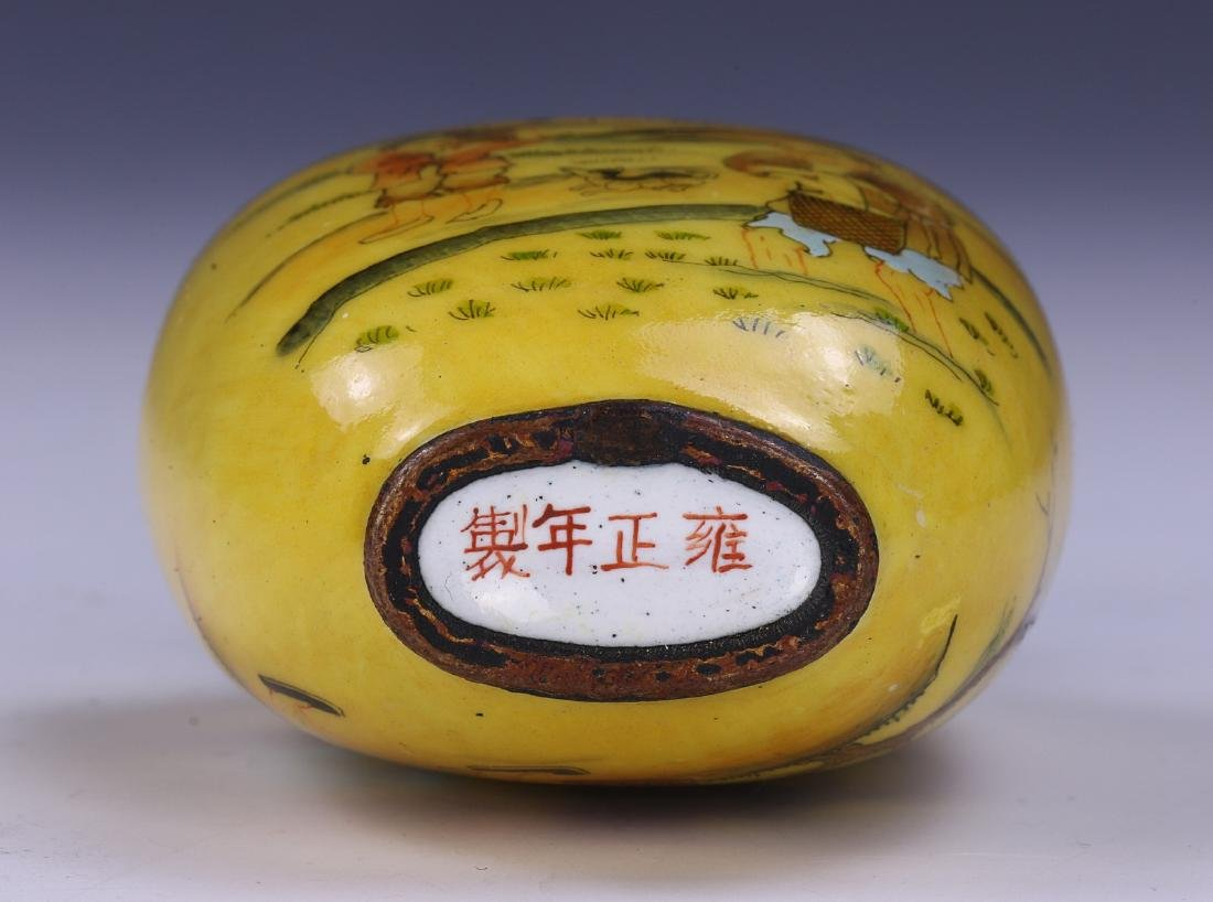 A CHINESE ANTIQUE CLOISONNE ON BRONZE SNUFF BOTTLE - 3