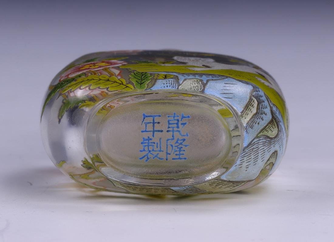 A CHINESE ANTIQUE PEKING GLASS SNUFF BOTTLE - 3