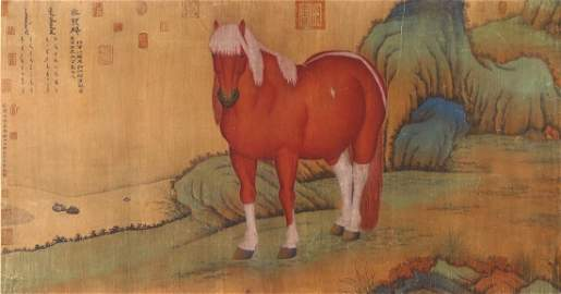 A BIG CHINESE ANTIQUE UNMOUNTED PAPER PAINTING
