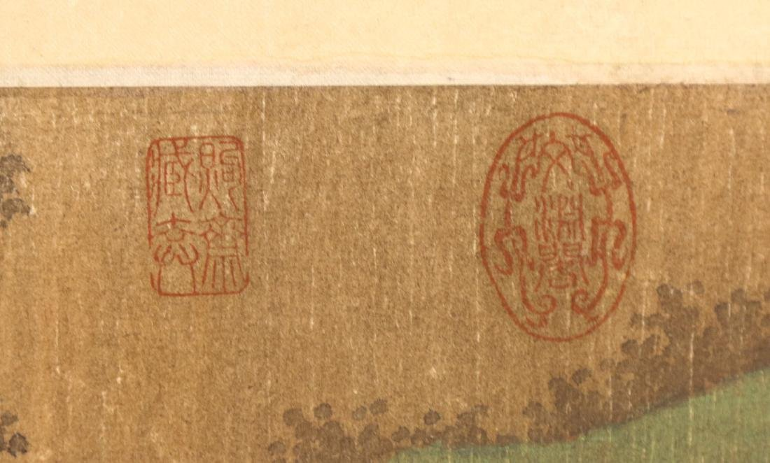 A BIG CHINESE ANTIQUE UNMOUNTED PAPER PAINTING - 6