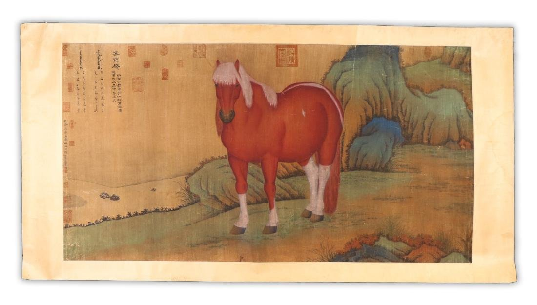 A BIG CHINESE ANTIQUE UNMOUNTED PAPER PAINTING - 7
