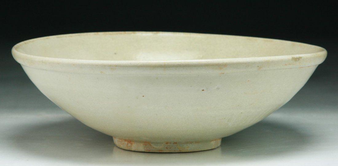 A Chinese Antique White Glazed Porcelain Bowl