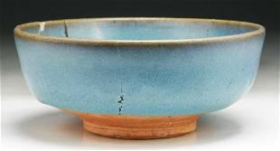 A Chinese Antique Blue Glazed Porcelain Bowl