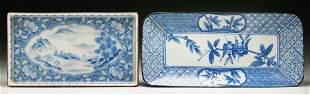 Two (2) Antique Blue & White Porcelain Plates