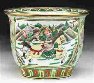 A Chinese KANGXI MARK Famille Verte Porcelain Vase