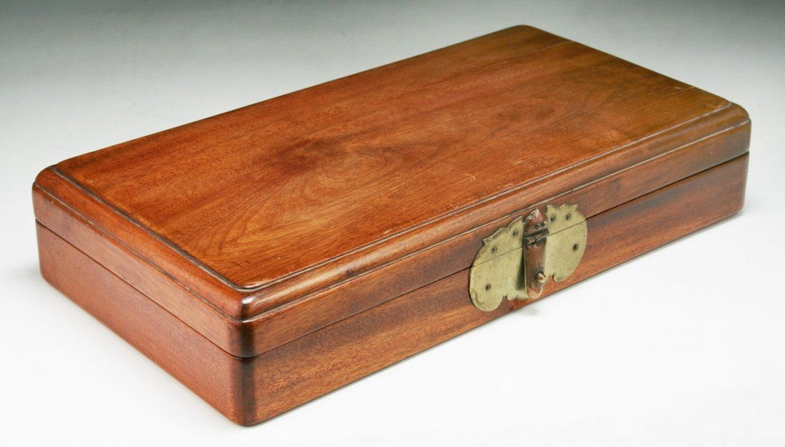 A Chinese Antique HUANGHUALI Wood Box