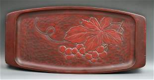 A Japanese Antique Kamakura Lacquer Plate