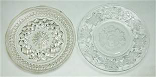 Two (2) Crystal Glass Plates