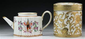 Two 2 Japanese Porcelain Jar  Teapot