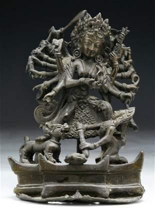 Tibetan 18th/19th C. Antique Bronze Buddha