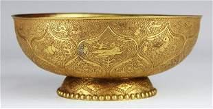 Very Rare Chinese TANG DYNASTY Gilt Silver Bowl