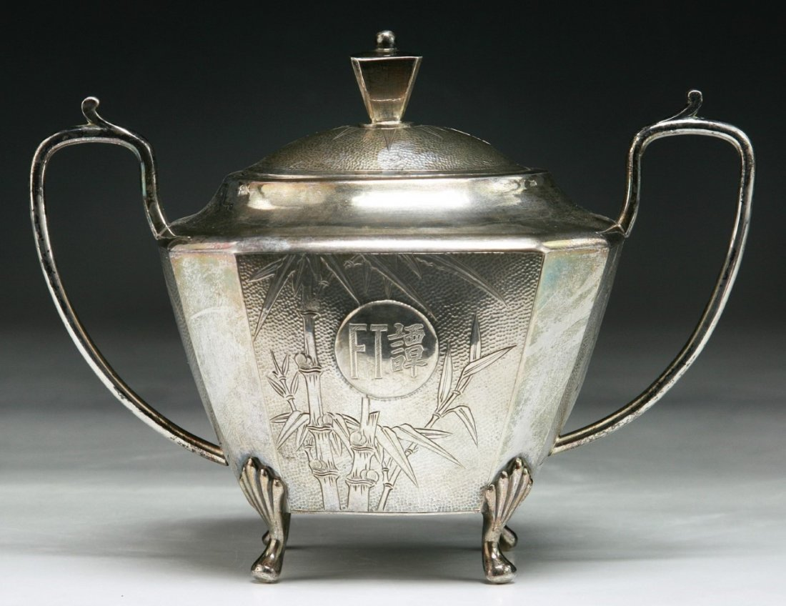 Fine Chinese 19th C. Antique Silver Candy