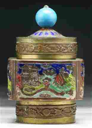 Chinese Antique Cloisonne Bronze Box