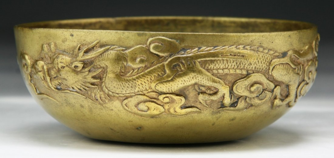 Chinese 18th/19th C. Gilt Bronze Bowl
