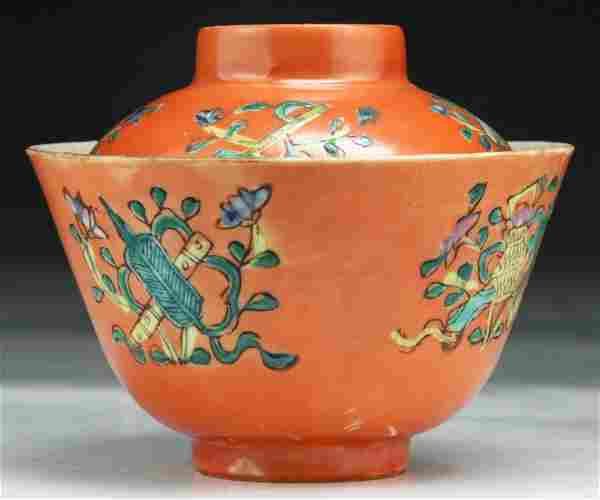 Signed Chinese L. 19th C. Antique Famille Rose