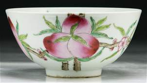 Chinese 19th C. Antique Famille Rose Porcelain Bowl