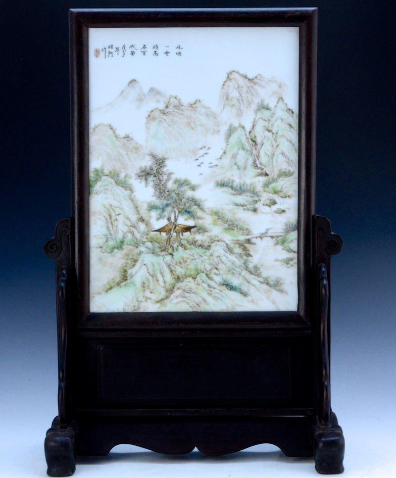 Fine Signed C. 1900 Chinese Antique Famille Rose Framed