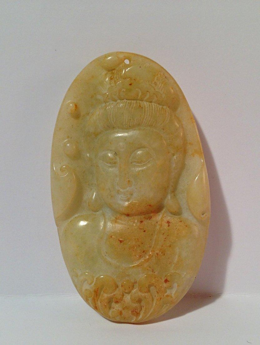 Buddha head jade pendant