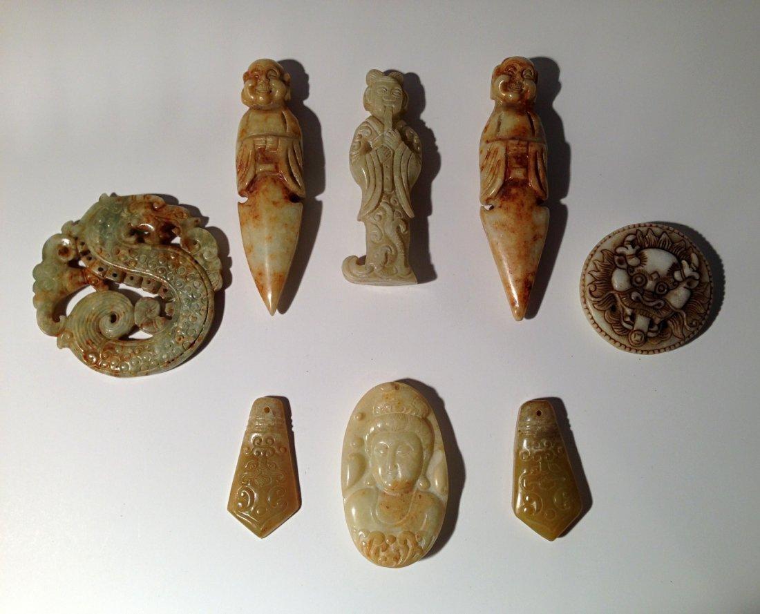Group of jade carvings