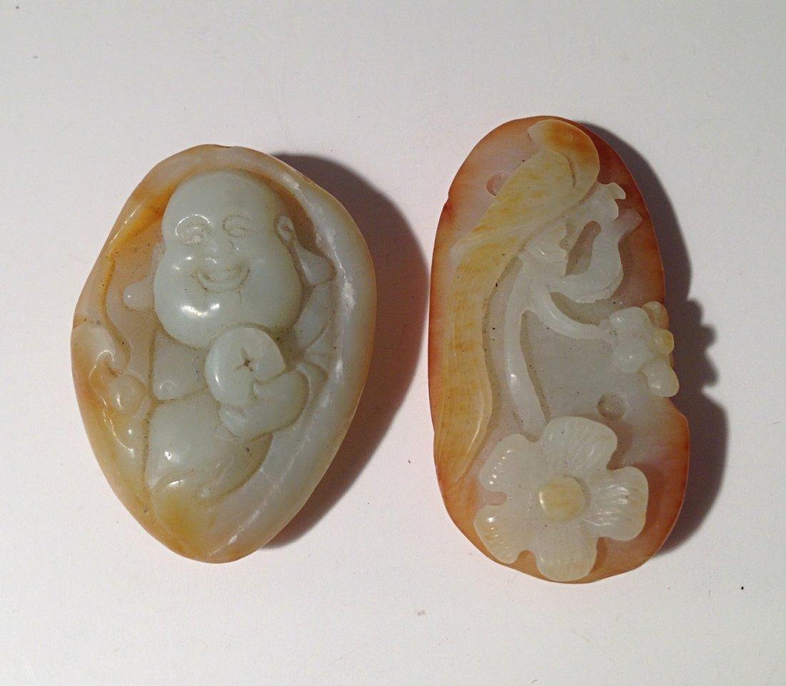 2 pcs jade carvings
