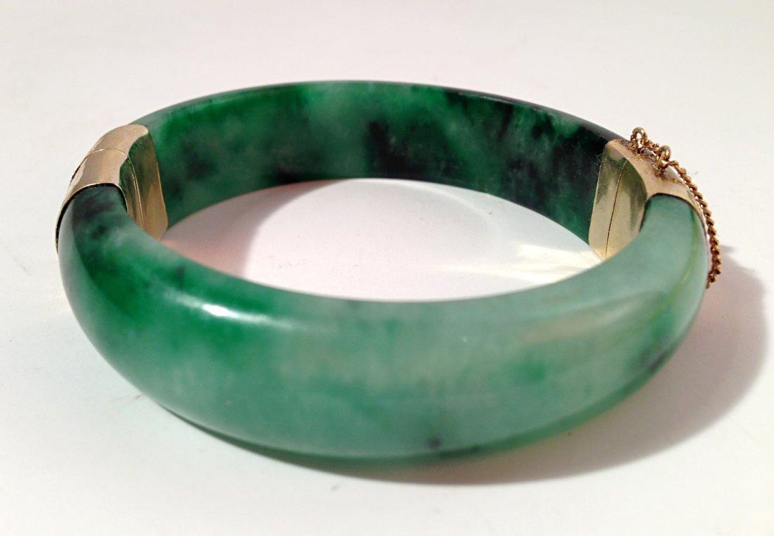 Jade bangle with clasp
