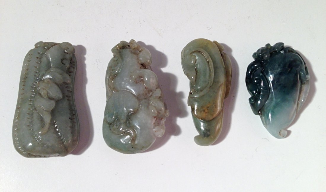 Group of jade carving pendants