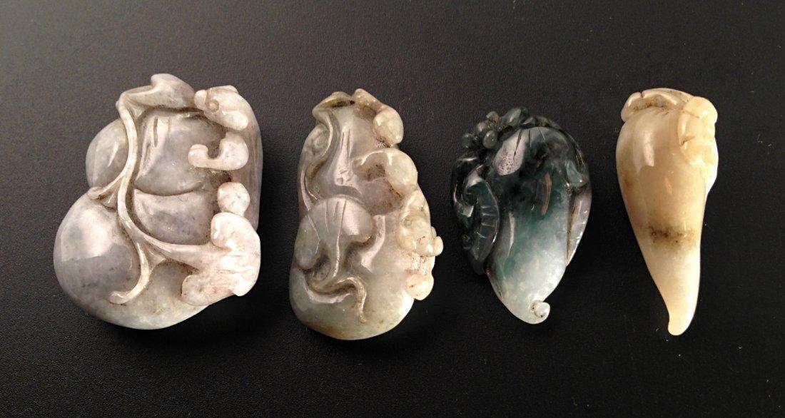 4PCS carved jade