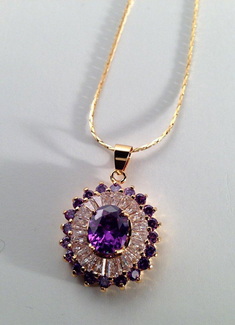 Diamond style stone necklace