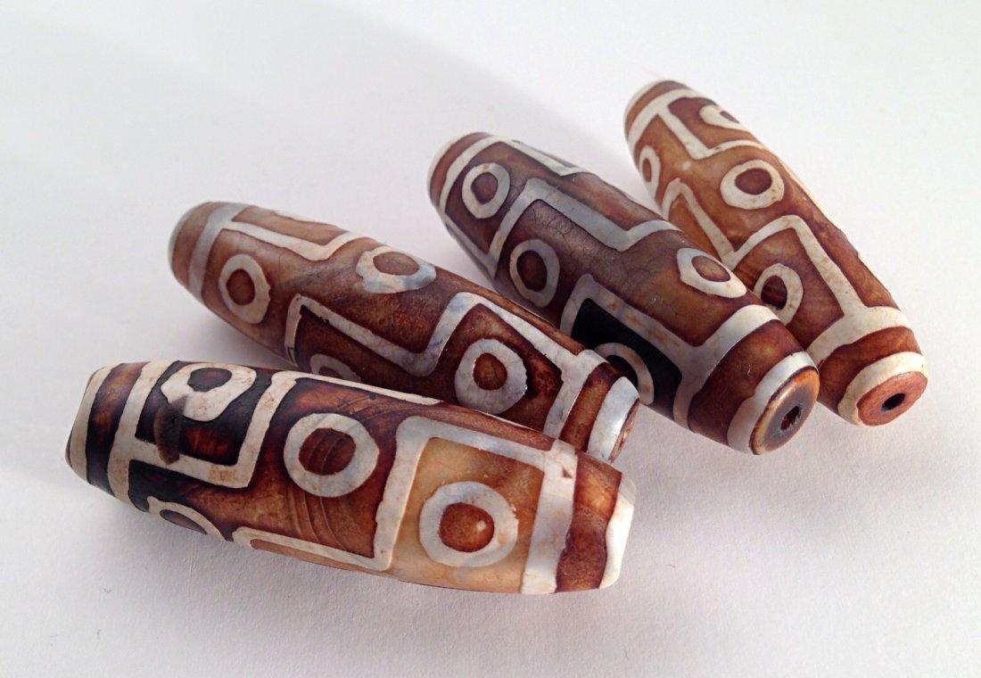 3 PCS Tibetan DZI beads