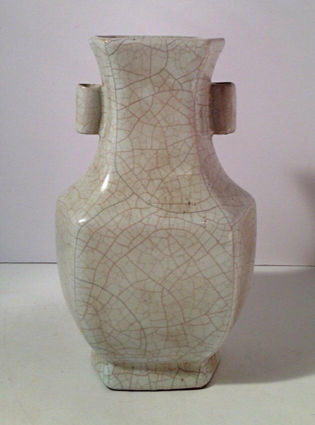 Chinese crackle style porcelain vase