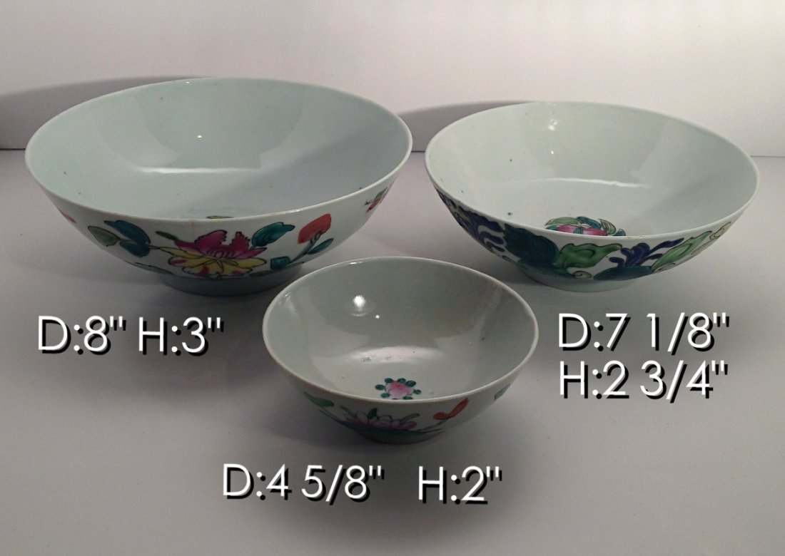 Group of Chinese porcelain bowls