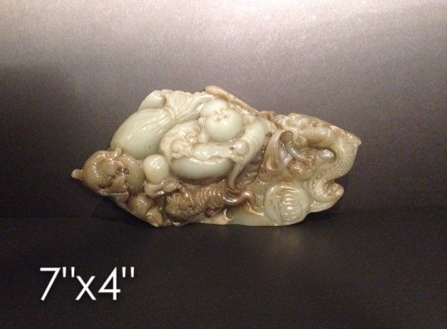 Carved jade Buddha