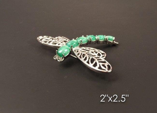 Green jade pin
