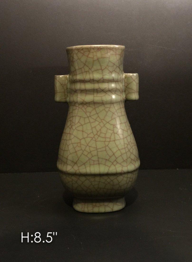 Chinese porcelain crackle style vase