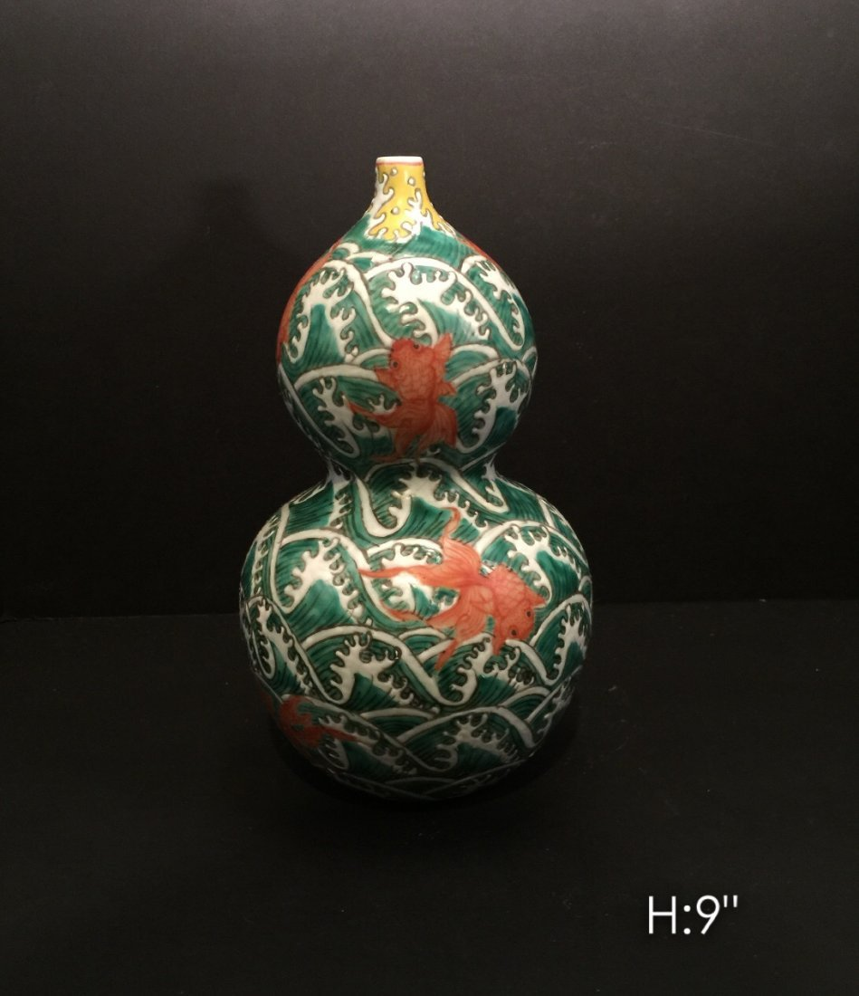 Chinese porcelain vase with dragon