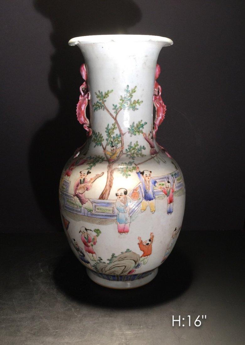 Chinese famille porcelain vase