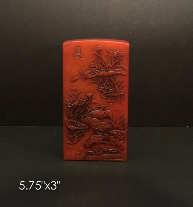 CHINESE CARVED TIAN HUANG STONE STAMP