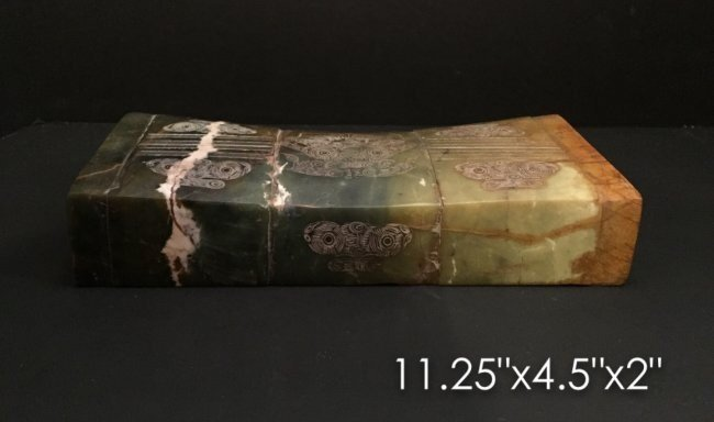 CHINESE CARVED JADE PILLOW