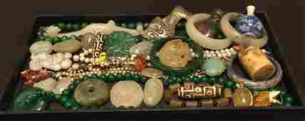 GROUP OF JADE & JEWELRY COLLECTION